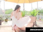 Horny Brunette Jelena Jensen Orgasms After Finger Fucking!