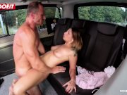 LETSDOEIT - Petite Czech Teen Cums Hard In Taxi In Public