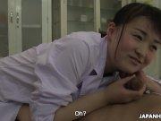 Japanese Sayaka Aishiro sucks dick while at work uncensored