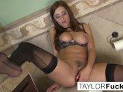 Taylor Vixen Looks Extra Hot In Black Stockings