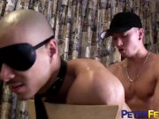 PETERFEVER Asian Sub Caged Jock Barebacked By Hung Master