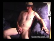 Amateur Mature Man Reggie Jacks Off and Cums