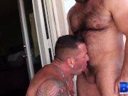 BREEDMERAW Hairy Brad Kalvo Bareback Raw Pounding Inked Gay