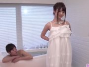 Slim wife pleases hubby with a good blowjob in th tub - More at Slurpjp com