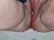 Delicious sticky ice lolly in pussy