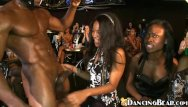 Girls druged at party and gangbanged - Girls having fun with masked ebony stripper