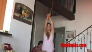 Anh teen khoe hang - Hanka is hanged spanked and teased
