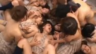 Japanese girls in group sex Asian beauties in school