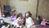 2 chick facial - Crazy japanese chicks and hot orgy 2