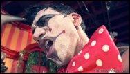Sexy female circus ringmaster - Badass circus clown fucking