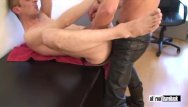 Gay tight leather - Cum hungry hole pounded by leather hunk