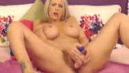 Girl action dildo Hot blonde double dildo action