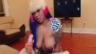 Hair dye colors garnier strippers Busty ebony with ipmressive hair color jerks