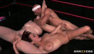 Amateurs wrestlers nude - Tag team oil wrestlers go at it - brazzers