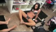 Lingerie pinot set - On set with asa akira and the girls