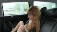 Irish red hair nude Faketaxi - long red hair and shaved pussy