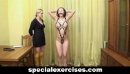 Exercising naked on tubes Naked bdsm training for slave girl