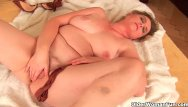 Clothing style for large breasts - Grandma with large breasts and unshaven pussy
