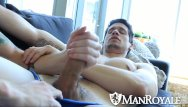 Hot sexy gay man Manroyale hot guy comes back home for to fuck