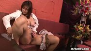 Mature glamour puss Fetching japanese gal plays with her wet puss