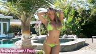 Yaking off bikini Capri cavalli shows off her hot body