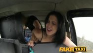 Spanish shaved - Faketaxi spanish lady takes it in the ass