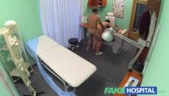 Sexy hospital gown Fakehospital sexy patient is given the cock