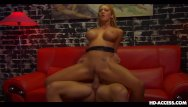 Trina shows hre breast - Busty blonde gets her sausage portion on a re