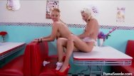 Whip cream bikini photos ali larter Puma swede serves whip cream all over candy