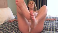 Shemale mistress soleli tube Blonde takes a cumshot across her soles