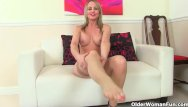 British blonde older milf pictures - British mom sofia fucks herself with a dildo