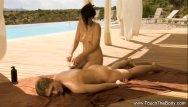 Uncut cock free video - Oil uncut massage video