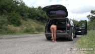 Carlisle nude Nude on the mountain road