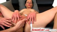 Cunt close-ups Up close pussy play with hot euro milf renate