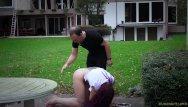 Amateur female outdoor bondage - Reeducation of a bondage slave girl