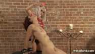 Cum covered solo girls naked videos Dominatrix covers her naked slave girl in wax