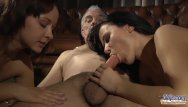 Selection sex Two escort girls gives grandpas select riding