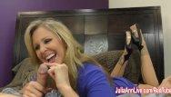 Jacking off dildo - Busty milf julia ann jacks him off
