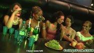Slut fucked at a party - College sluts group fuck dude in club