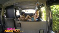 Streatched vagina Femalefaketaxi fitness babe stretches pussy