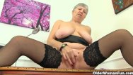 English lady lingerie - English granny savana is fingering old pussy