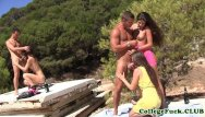 Beach hand sex - Sophomore babes outdoors beach sex orgy