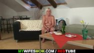 Mature mom horny for son - Horny drunk granny lures her son-in-law