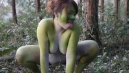 Green frog porn Stark naked japanese fat frog lady in the swamp hd