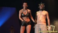 Long needle in tits movie - Crazy fetish needle show on stage