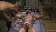 Gay interracial rough sex Bound gods: prison torments