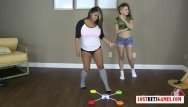 Latex and memory form matress - Two gorgeous teens play a strip memory game