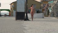 Black nude in public - Nude and barefoot in public