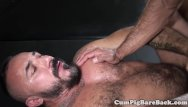 Gay porn dilf - Mature dilf bear barebacked by pierced top