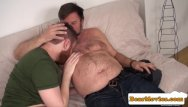 Sexy gay chubs - Redbear assfingered while jerking by chub guy